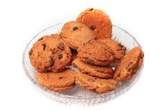 Biscotti del cioccolato in ciotola Immagine Stock