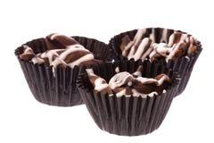 Biscotti del cioccolato della mandorla isolati Fotografia Stock Libera da Diritti