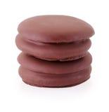 biscotti del cioccolato della torta di choco su bianco Immagine Stock