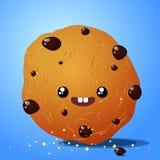 Biscotti del cioccolato di Kawaii Fotografie Stock Libere da Diritti