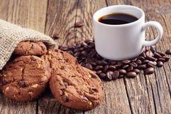 Biscotti del cioccolato e del caffè Fotografie Stock