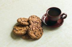 Biscotti del cioccolato e del caffè Fotografia Stock