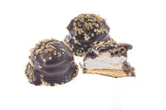 Biscotti del cioccolato isolati Fotografia Stock Libera da Diritti