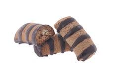 Biscotti del cioccolato isolati Immagine Stock