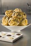 Biscotti del cioccolato - serie di chimica alimentare Fotografia Stock