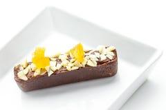Biscotti del cioccolato zuccherato Fotografia Stock