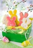 Biscotti del coniglietto di pasqua Fotografie Stock Libere da Diritti