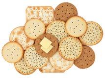 Biscotti del cracker Immagini Stock