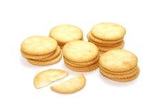 Biscotti del cracker Fotografie Stock