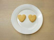 Biscotti del cuore Immagini Stock