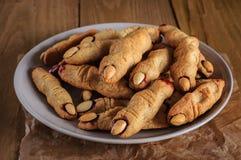 Biscotti del dito della strega di Halloween Immagine Stock Libera da Diritti