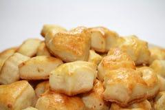 Biscotti del formaggio, vista del primo piano Immagini Stock Libere da Diritti