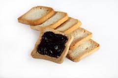 Biscotti del gruppo con inceppamento su bianco Fotografia Stock Libera da Diritti