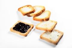 Biscotti del gruppo con inceppamento su fondo bianco Immagine Stock Libera da Diritti