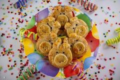 Biscotti del maiale per il nuovo anno Fotografie Stock