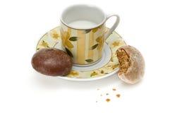 Biscotti del miele per tea-time Fotografie Stock