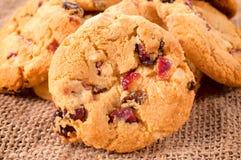 Biscotti del mirtillo rosso Immagine Stock Libera da Diritti