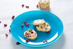 Biscotti del mirtillo rosso Fotografia Stock