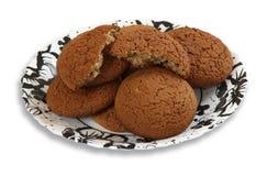 Biscotti del mucchio su un piatto Immagine Stock Libera da Diritti