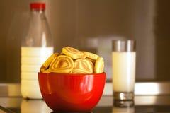 Biscotti del n del latte Fotografia Stock