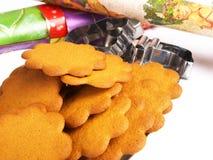 Biscotti del pan di zenzero Fotografia Stock Libera da Diritti