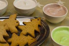 Biscotti del pan di zenzero Fotografie Stock Libere da Diritti
