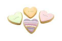 Biscotti del pan di zenzero del cuore Fotografia Stock