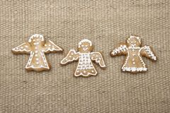 Biscotti del pan di zenzero di natale.   Fotografia Stock Libera da Diritti