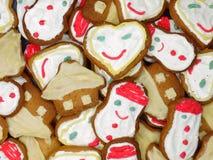Biscotti del pan di zenzero di natale Fotografia Stock