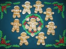 Biscotti del pan di zenzero di Natale Immagine Stock Libera da Diritti