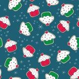 Biscotti del pan di zenzero di Natale con verde dei dolci e Immagine Stock Libera da Diritti