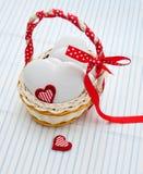 Biscotti del pan di zenzero in forma di cuore Fotografia Stock