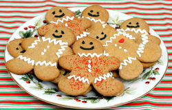 Biscotti del pan di zenzero sulla zolla Immagini Stock