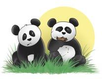 Biscotti del panda Immagini Stock