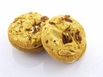 Biscotti del panino dell'arachide Immagine Stock