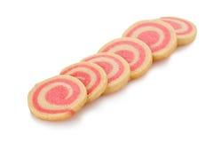 Biscotti del Pinwheel della menta peperita Fotografie Stock