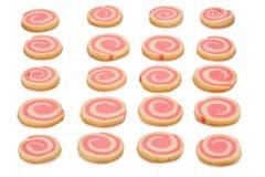 Biscotti del Pinwheel della menta peperita Immagine Stock Libera da Diritti