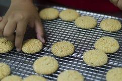 Biscotti del sesamo Fotografia Stock