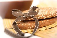 Biscotti del sesamo e semi di zucca Fotografia Stock