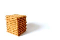 Biscotti del tè isolati su fondo bianco Immagini Stock