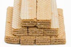 Biscotti del wafer immagine stock