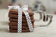 Biscotti deliziosi del cioccolato Fotografia Stock Libera da Diritti