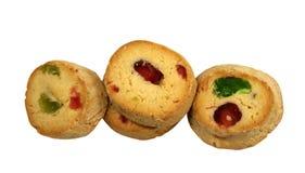 Biscotti deliziosi del contenitore di ghiaccio con frutta Immagine Stock
