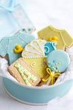 Biscotti dell'acquazzone di bambino Fotografie Stock