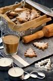 Biscotti dell'albero di Natale Fotografie Stock