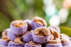 Biscotti dell'anacardio fotografie stock libere da diritti