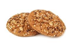 Biscotti dell'avena con sesamo Immagini Stock Libere da Diritti