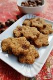 Biscotti della cannella con l'uva passa Fotografia Stock Libera da Diritti