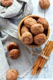 Biscotti della cannella con le crepe Immagini Stock Libere da Diritti
