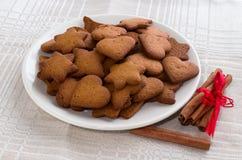 Biscotti della cannella del pepe Fotografie Stock Libere da Diritti